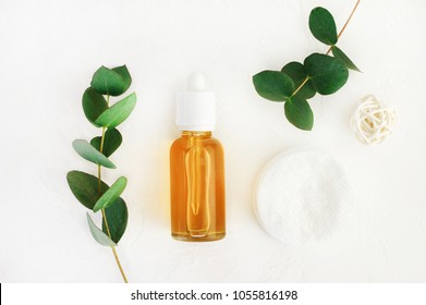Natural handmade cosmetics with honey and eucalyptus aroma