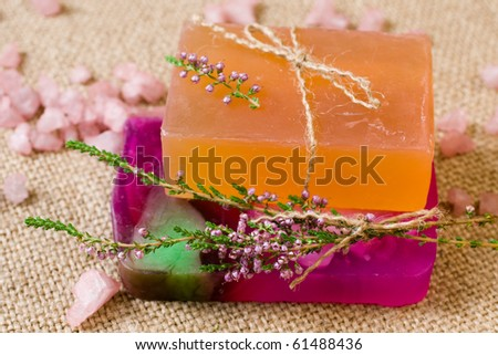 Natural handmade Soap and sea salt