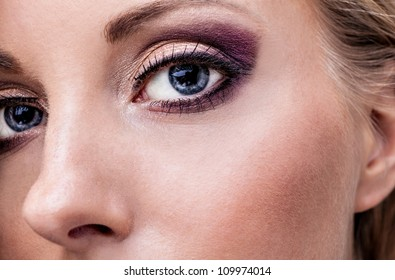 Natural health beauty of a woman face