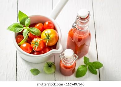 Natural and healthy passata made of tomatoes