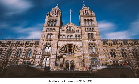 Natural History Museum entrance, London, England