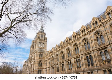 Natural History Museum of London in the morning sunlight. A great place to visit while in London, United Kingdom.