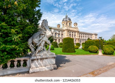Natural History Museum (Naturhistorisches museum) on Maria Theresa square (Maria-Theresien-Platz), Vienna, Austria