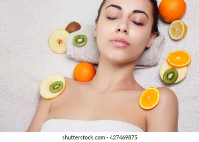 Natural homemade fruit facial masks. Fresh fruit