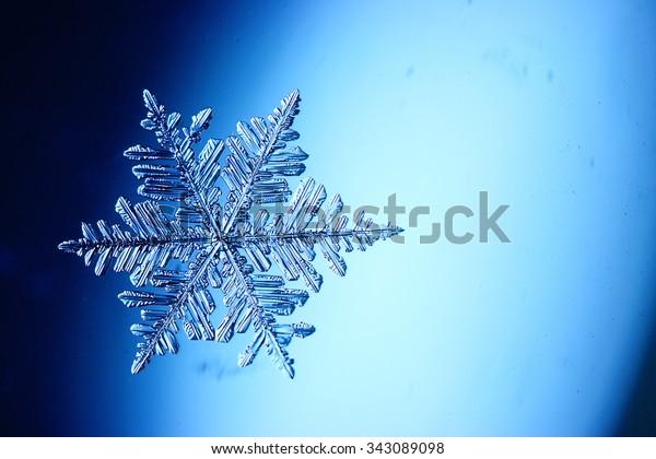 natural ice crystal snowflake