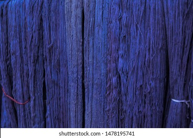 Natural Indigo dye cotton fabric, Cotton yarn dyed blue natural color