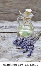 Natural Ingredients for Homemade Body Lavender Oil Beauty Concept