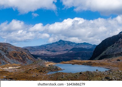 Natural lake during daytime in North-east India, going towards Bumla pass