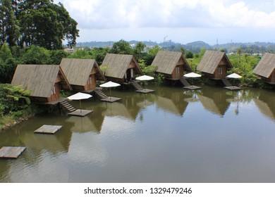 natural lake dusun bambu and reflection
