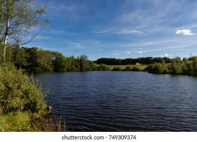 Natural lake near Billund, Denmark