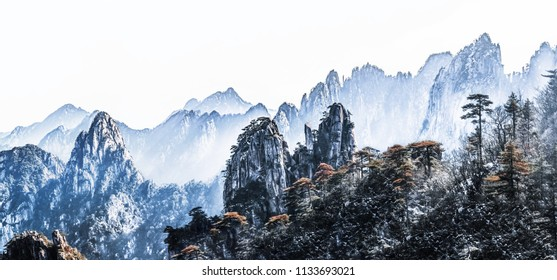 Natural Landscape of Beihai Grand Canyon, Huangshan Scenic Spot, Huangshan City, Anhui Province