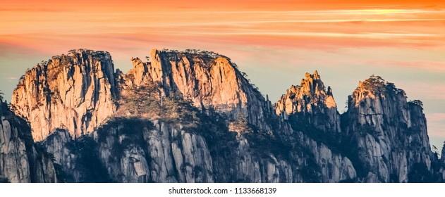 Natural Landscape of Donghai Grand Canyon in Huangshan Scenic Area, Huangshan City, Anhui Province