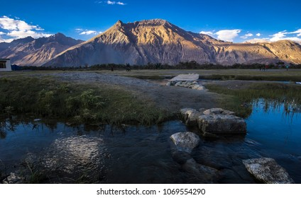 Natural landscape in Nubra valley, Leh Ladakh, Jammu and Kashmir, India