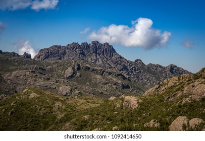 Natural landscape of the rocky mountain called Agulhas Negras, one of the largest mountains in Brazil.