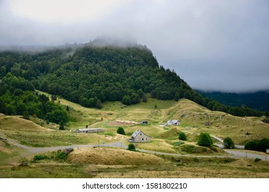 The natural landscape in Urdos - France