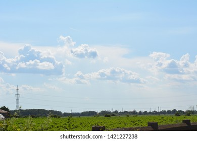 natural landscape with white clouds