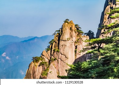 Natural Landscape of Yuping Peak, Huangshan Scenic Spot, Huangshan City, Anhui Province