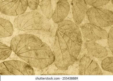Natural leaves paper texture vintage style
