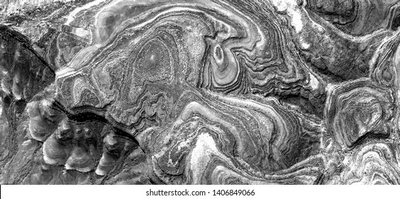 natural level curves, allegory, abstract naturalism, Black and white photo, abstract photography of landscapes of the deserts of Africa from the air, aerial view, contemporary photographic art,