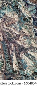 natural level curves, vertical abstract photography of the deserts of Africa from the air, aerial view of desert landscapes, Genre: Abstract Naturalism, from the abstract to the figurative,