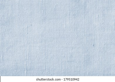 Natural Light Blue Flax Fiber Linen Texture, Detailed Closeup, rustic crumpled vintage textured fabric burlap canvas pattern, horizontal