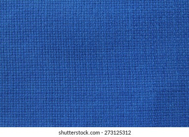 Natural linen fabric for embroidery (blue)