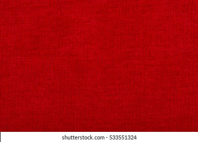 Natural linen fabric for embroidery. Red color.
