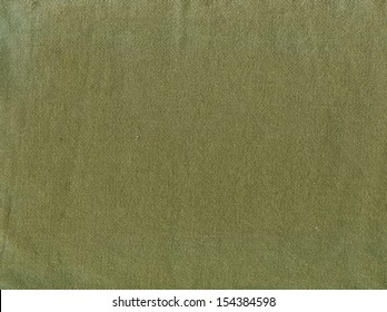Natural linen striped rough textured green fabric textile background