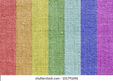 natural linen texture in the rainbow colors for the background
