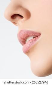 Natural Lip Makeup Detail