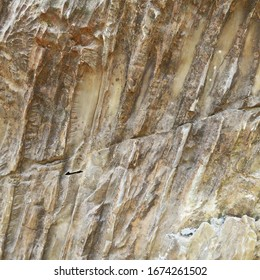 Natural marble pattern on the hill