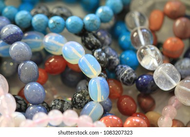natural mineral necklace texture as very nice background