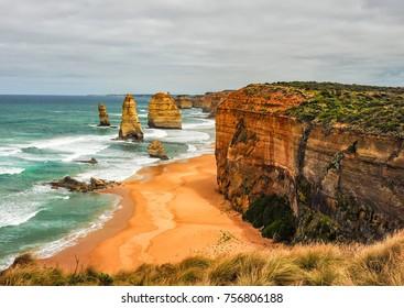 Natural monument of Australia. The twelve apostles.