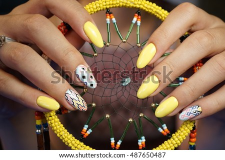Natural Nails Beautiful Nail Art You Stock Photo Edit Now