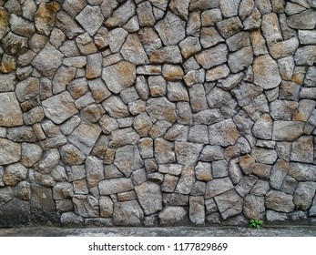 natural old grey stone wall texture background