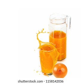 natural orange juice in glasswares