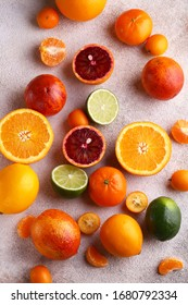 natural organic citrus fruit on a wooden plate