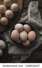 Natural organic eggs, Easter
