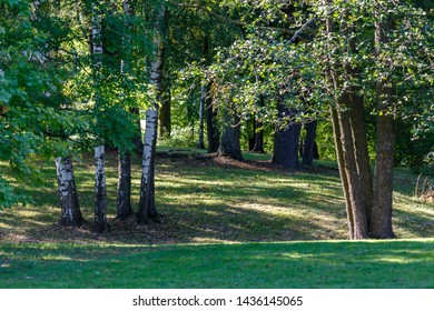 Natural park Alexandria in Petergof town, Russia