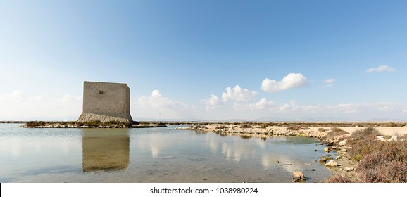 Natural Park of the Salinas in Santa Pola, province of Alicante, Spain.