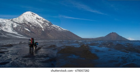 """Natural Park  - the youngest and one of the most beautiful natural parks of Kamchatka, its territory can be called a land of """"Fire and ice"""". Within its boundaries there are 12 active volcanoes."""