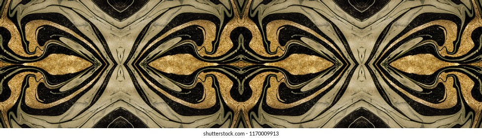 Natural Pattern. Luxury unique painting. Ornament. Marble texture. Trendy art with golden powder. Style incorporates the swirls of marble or the ripples of agate for a luxe effect.