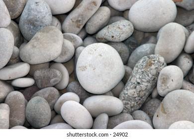 Natural Pebble Beach