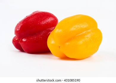 Natural pepper isolated in white