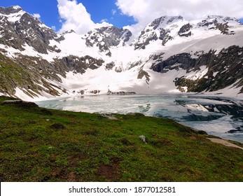 Natural Photography - Beautiful Katora Lake is an Alpine Glacial in the upper reaches of Jahaz Banda - Kumrat Valley Swat KPK - Province of Pakistan - Scenery of Nature