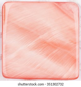 natural pink pearl colored with iridescent tints and inclusions in the form of a square plate for mosaic