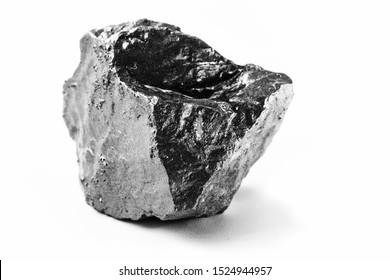 natural platinum nugget isolated on white background