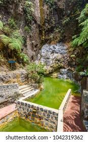 Natural pool of Fuentes Georginas - hot springs around Zunil and Quetzaltenango - Xela, Guatemala
