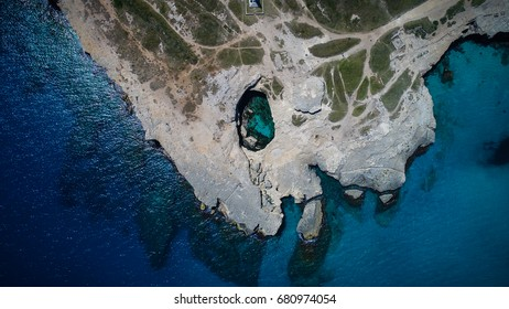 Natural Pool in Italy, Grotta della Poesia - Apulia, Italy