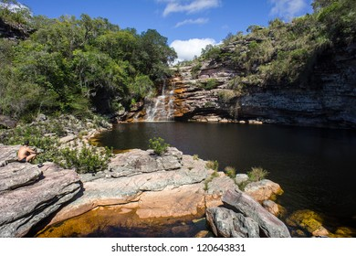 Natural pool near Lencois, Brasil